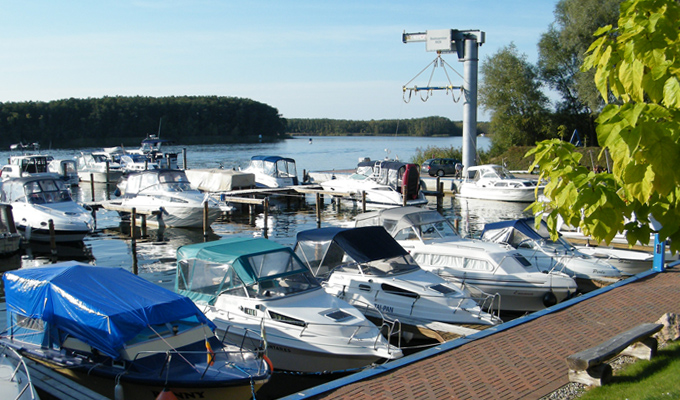 Yachtcharter Mirow - unser Übergabehafen in Mirow